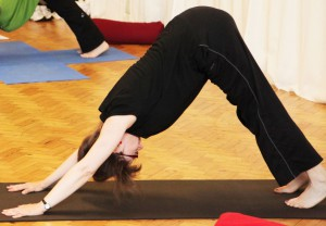 Downward dog strengthens the body