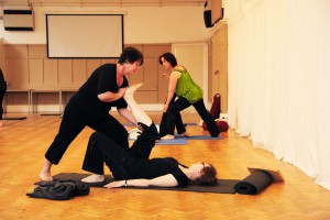 Yoga partner work